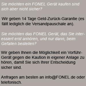 Direktvertrieb bei Fonel-Audio - 0